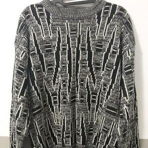 "BARNABY Vintage ""Grandpa"" acrylic sweater size L"